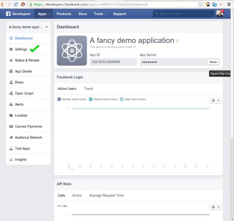 Creating a Facebook application screenshot #3