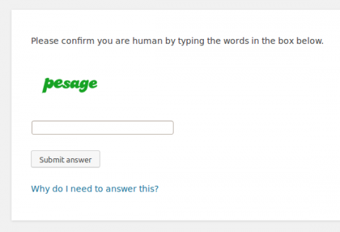 Spam Destroyer CAPTCHA