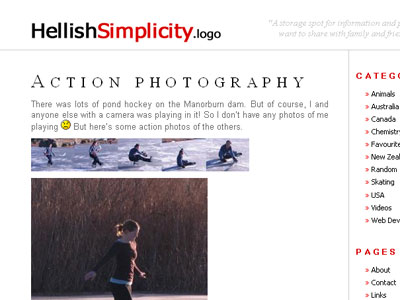 Hellish Simplicity WordPress theme